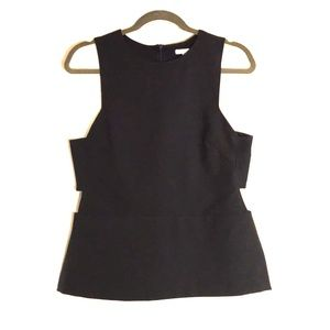 Navy Blue H&M Sleeveless Top with Cutouts